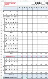 日本政策金融公庫さんの資金繰り表(簡易版) エクセル テンプレート
