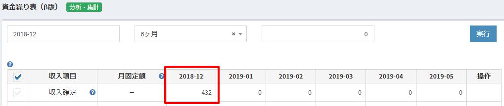 粗利管理クラウド 分割支払_資金繰り表